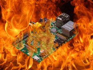 Raspberry Pi in flames